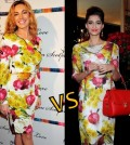 Kelly brook vs Sonam Kapoor-Dolce-Gabbana-Sunflower-Onion-print-floral-dress-akkidokie