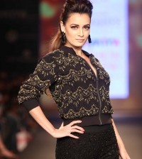 Dia Mirza walks the ramp for VERO MODA Marquee by Karan Johar at Myntra Fashion Weekend