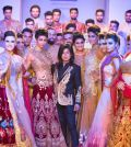 Designer Sikandar Nawaz with all the models