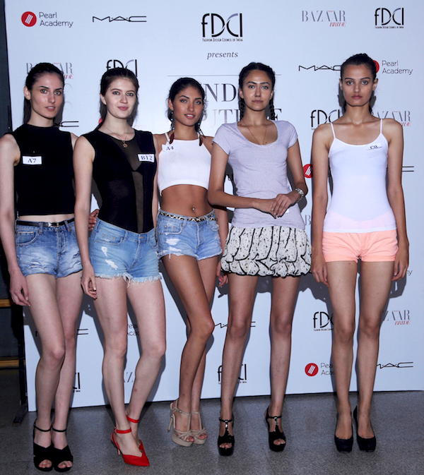 The Top 5 models out of the 14 shortlisted at the FDCI #Getnoticed female model auditions for the upcoming edition of FDCI India Couture Week 2016.