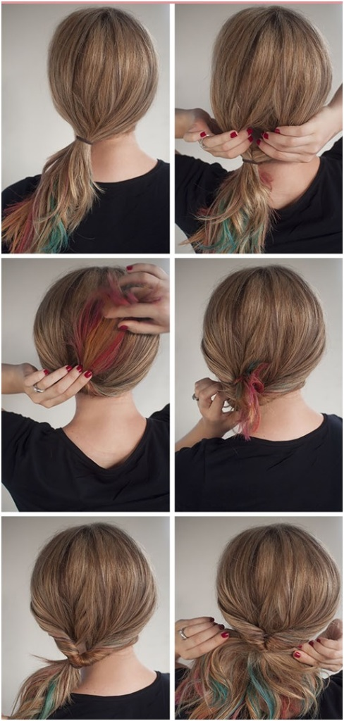 steps for flipped pony tail