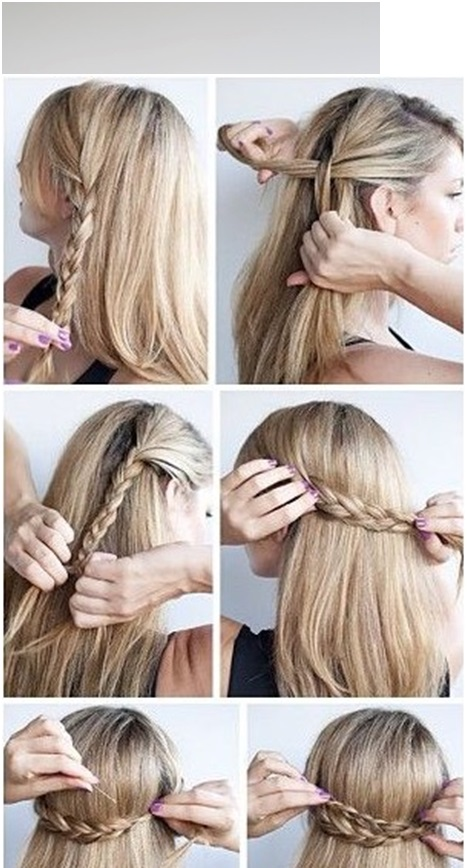 steps for half crown braid