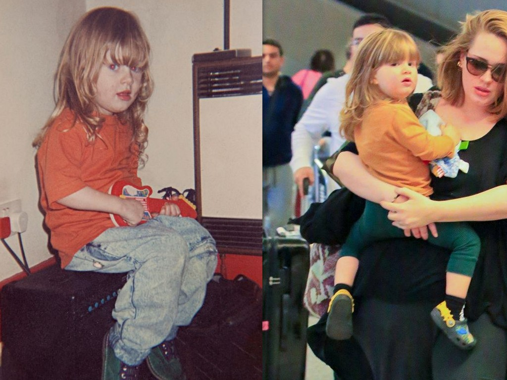 Adele and her daughter